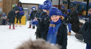 Essendene-Lodge-School-child-playing-in-the-snow