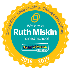 Image result for ruth miskin accreditation badge 2018-19